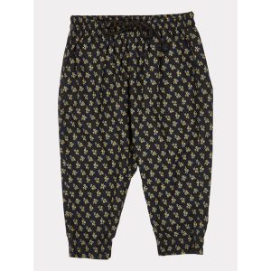 Caramel  - WOODPIDGEON TROUSERS BLACK/YELLOW SMALL FLORAL - Clothing