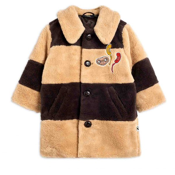 Mini Rodini  - E.T. FAUX FUR COAT BEIGE - Clothing