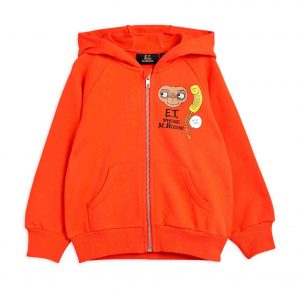 Mini Rodini  - E.T. ZIP HOODIE RED - Clothing