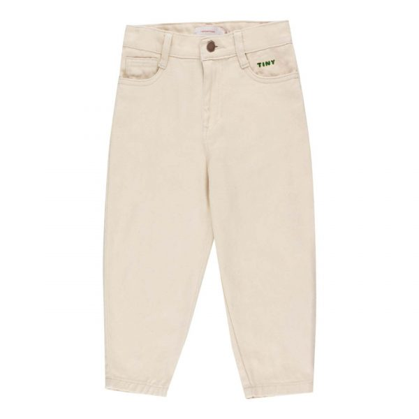 Tinycottons  - SOLID BAGGY PANT CREAM - Clothing
