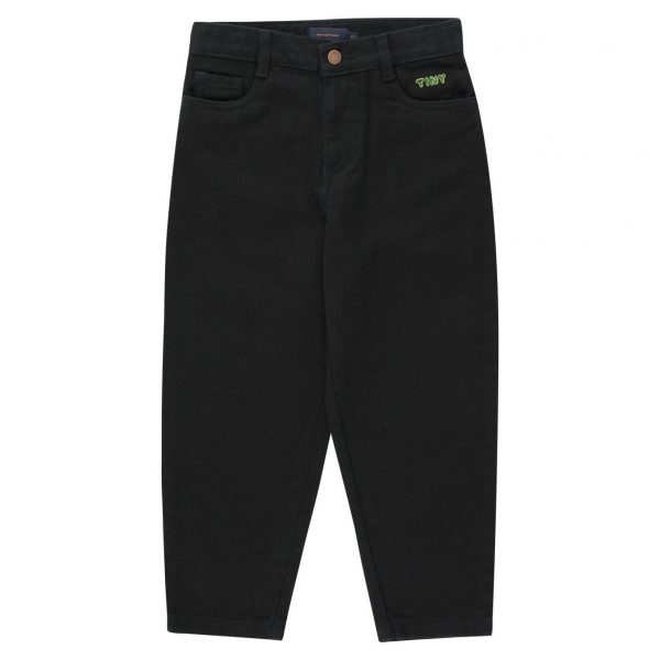 Tinycottons  - BAGGY DENIM BLACK - Clothing