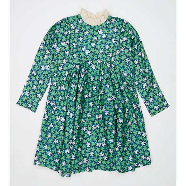 Caramel  - PUFFIN DRESS GREEN LEAF PRINT - Clothing