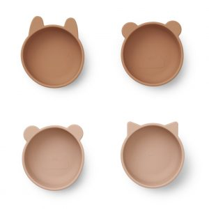 Liewood  - IGGY SILICONE BOWLS (4 PACK) TUSCANY ROSE MIX - Homeware