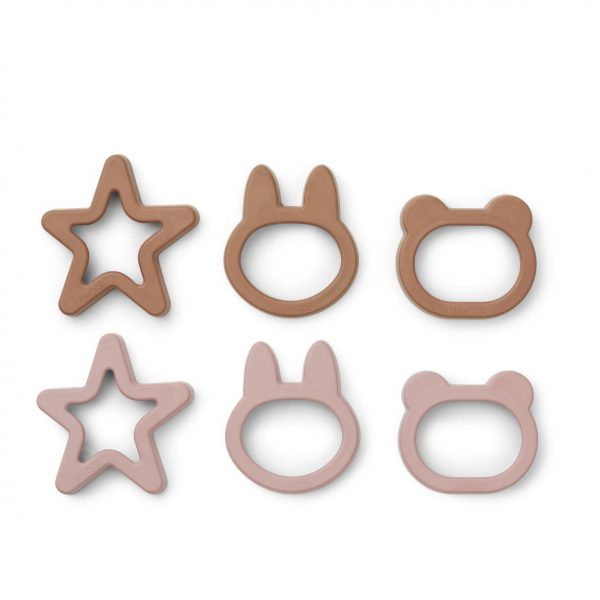 Liewood  - ANDY COOKIE CUTTER (6 PACK) ROSE MIX - Homeware