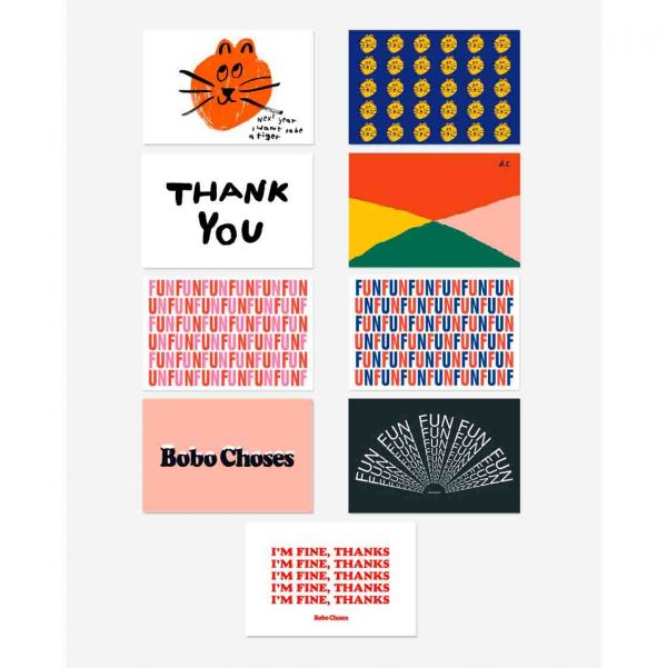 Bobo Choses  - FUN WISHES POSTCARDS PACK - Homeware