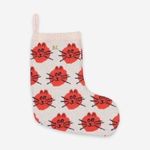 Bobo Choses  - CAT JACQUARD CHRISTMAS KNITTED SOCK - Homeware