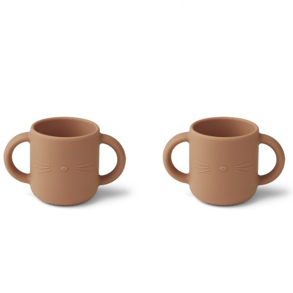 Liewood  - GENE SILICONE CUP - 2 PACK CAT TUSCANY ROSE - Homeware