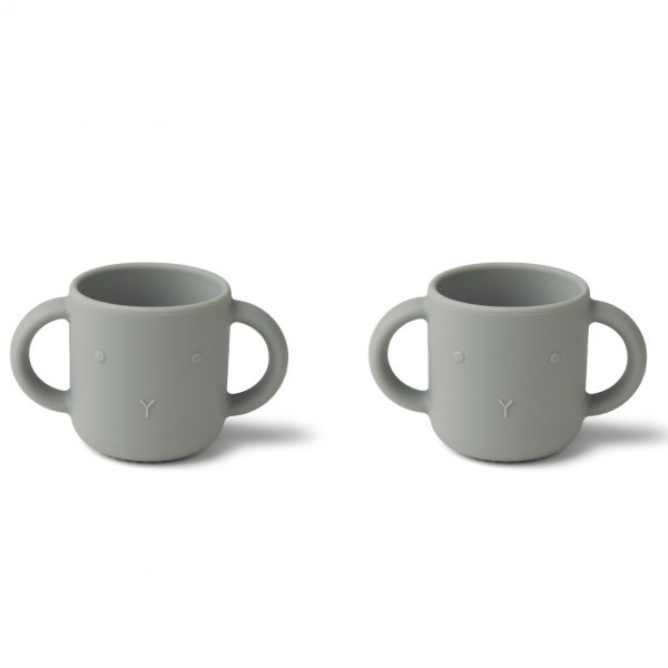 Liewood  - GENE SILICONE CUP - 2 PACK RABBIT DOVE BLUE - Homeware