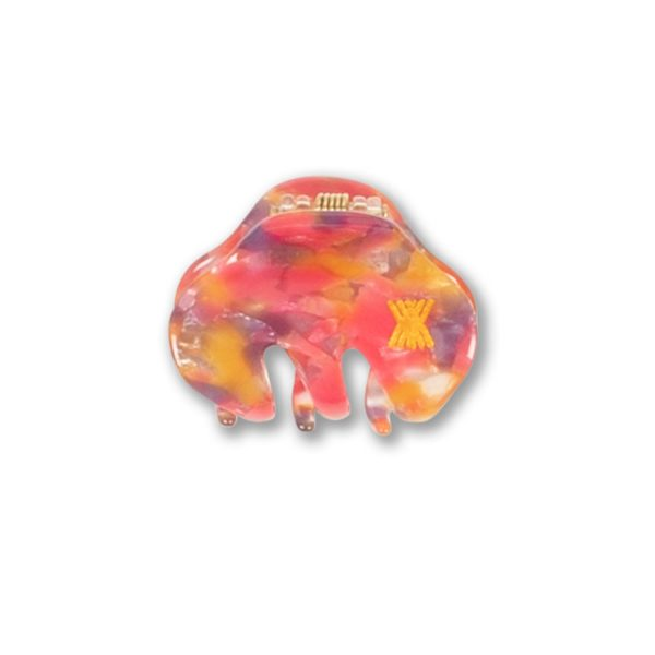 Repose AMS  - HAIR CLAMP SMALL ORANGE PINK - Accessories
