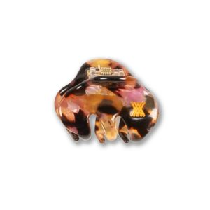 Repose AMS  - HAIR CLAMP SMALL BROWN MARBLE PINK - Accessories