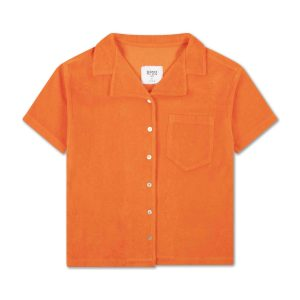 Repose AMS  - BOXY SHIRT WASHED FIRY RED - Clothing