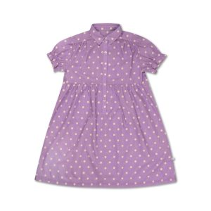 Repose AMS  - DREAMY DRESS GREYISH LAVENDER POLKA DOT - Clothing
