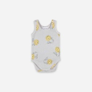 Bobo Choses  - PET A LION SLEEVELESS BODY - Clothing