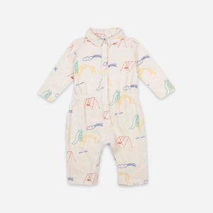 Bobo Choses  - PLAYGROUND ALL OVER TERRY FLEECE OVERALL - Clothing