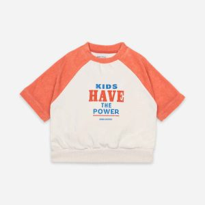 Bobo Choses  - KIDS HAVE THE POWER SHORT SLEEVE SWEATSHIRT - Clothing