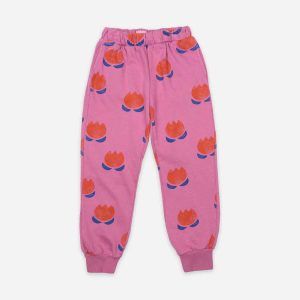 Bobo Choses  - CHOCOLATE FLOWERS ALL OVER JOGGING PANTS - Clothing