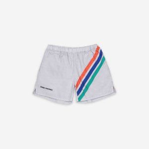 Bobo Choses  - CROSSWISE STRIPES WOVEN SHORTS - Clothing