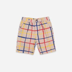 Bobo Choses  - MULTICOLOR CHECKERED BERMUDA - Clothing