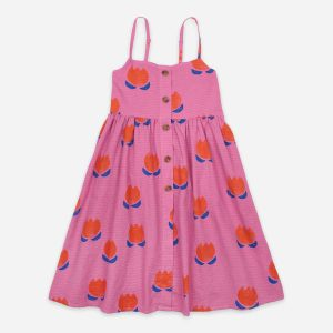 Bobo Choses  - CHOCOLATE FLOWERS ALL OVER WOVEN DRESS - Clothing