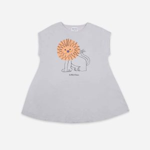 Bobo Choses  - PET A LION JERSEY DRESS - Clothing