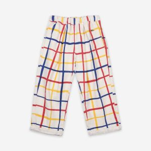 Bobo Choses  - MULTICOLOR CHECKERED BAGGY TROUSERS - Clothing