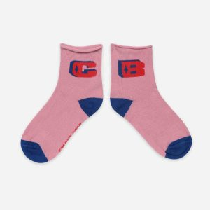 Bobo Choses  - B.C PINK SHORT SOCKS - Clothing