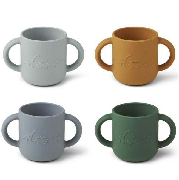 Liewood  - GENE CUP 4 PACK DINO BLUE MULTI MIX - Homeware