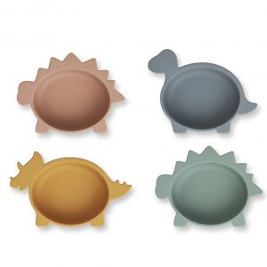 Liewood  - IGGY SILICONE BOWLS - 4 PACK DINO MULTI MIX - Homeware