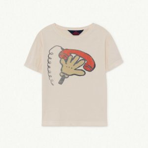 The Animals Observatory  - ROOSTER KIDS T-SHIRT WHITE TELEPHONE - Clothing
