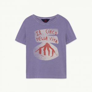 The Animals Observatory  - ROOSTER KIDS T-SHIRT PURPLE CIRCO - Clothing
