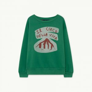The Animals Observatory  - BEAR KIDS SWEATSHIRT GREEN CIRCO - Clothing