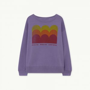 The Animals Observatory  - BEAR KIDS SWEATSHIRT PURPLE MOLTO - Clothing