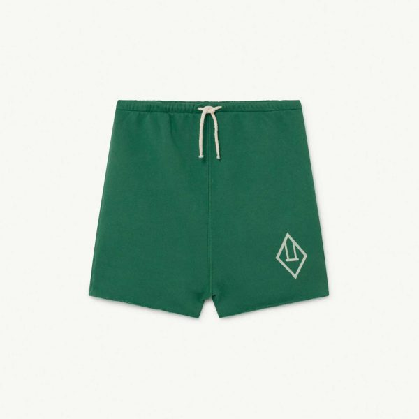 The Animals Observatory  - HEDGEHOG KIDS TROUSERS GREEN LOGO - Clothing