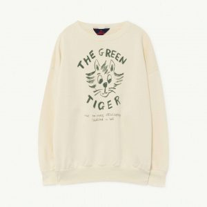 The Animals Observatory  - BIG BEAR KIDS SWEATSHIRT WHITE TIGER - Clothing