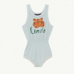 The Animals Observatory  - SQUIRREL KIDS BODY BLUE LINDO - Clothing