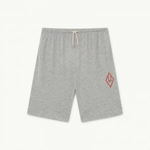 The Animals Observatory  - MOLE KIDS TROUSERS GREY LOGO - Clothing
