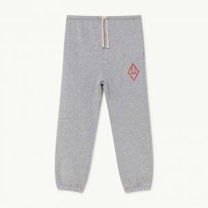 The Animals Observatory  - DROMEDARY KIDS TROUSERS GREY LOGO - Clothing