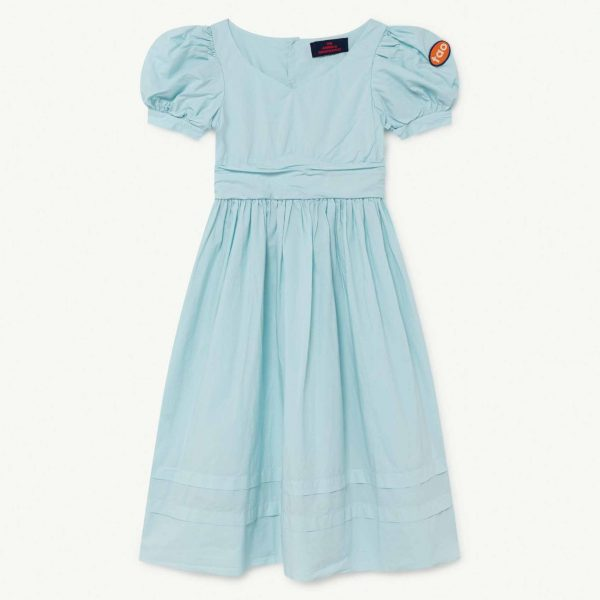 The Animals Observatory  - PEACOCK KIDS DRESS BLUE TAO - Clothing