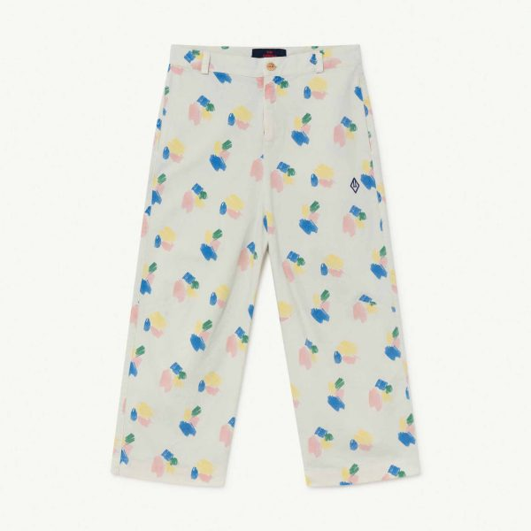 The Animals Observatory  - CAMEL KIDS TROUSERS WHITE STROKES - Clothing