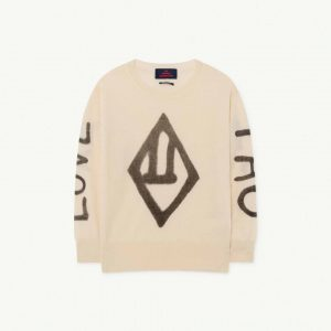 The Animals Observatory  - BULL KIDS SWEATER WHITE LOGO - Clothing