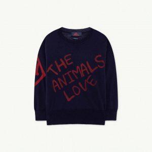 The Animals Observatory  - BULL KIDS SWEATER NAVY THE ANIMALS - Clothing