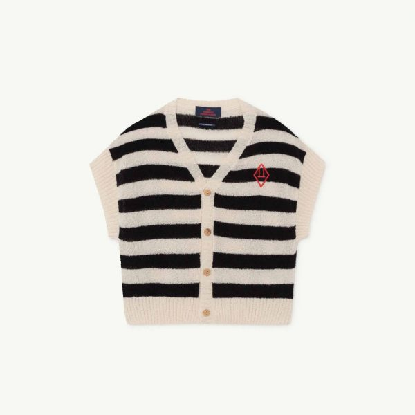 The Animals Observatory  - PARROT KIDS CARDIGAN NAVY LOGO - Clothing