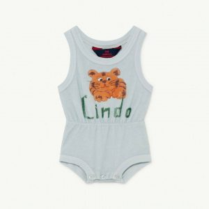 The Animals Observatory  - SQUIRREL BABY BODY BLUE LINDO 12M - Clothing