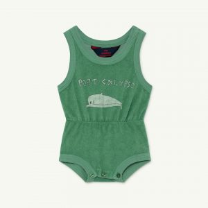 The Animals Observatory  - SQUIRREL BABY BODY GREEN DOLPHIN 12M - Clothing