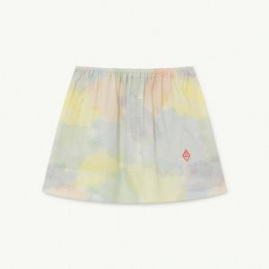 The Animals Observatory  - IMPALA KIDS SKIRT MULTICOLOR WATERCOLOR - Clothing
