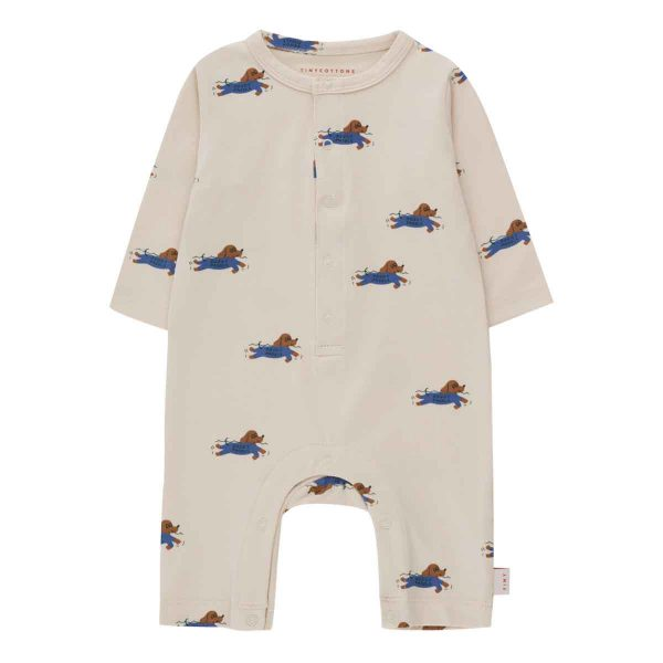 Tinycottons  - DOGGY PADDLE LONG SLEEVE ONE-PIECE - Clothing