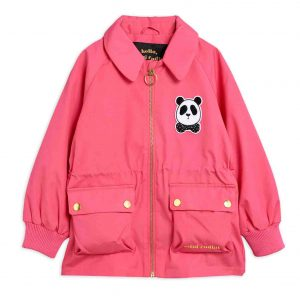 Mini Rodini  - PANDA JACKET PINK - Clothing