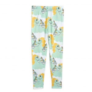 Mini Rodini  - UNICORN NOODLES LEGGINGS GREEN - Clothing