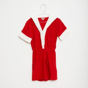 Fish & Kids  - RED SAILOR PLAYSUIT - Clothing