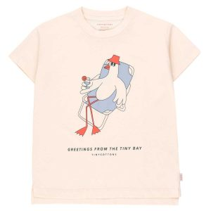 Tinycottons  - BIRD GRAPHIC TEE - Clothing